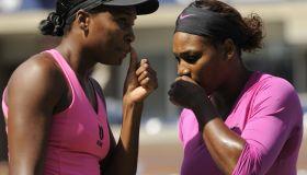 Serena Williams and Venus Williams of t