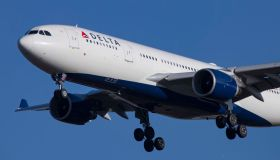 Delta Airlines Airbus A330-200 airplane with registration...