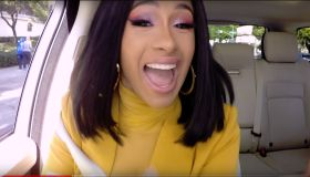 Cardi B during an appearance on CBS' 'The Late Late Show with James Corden.'