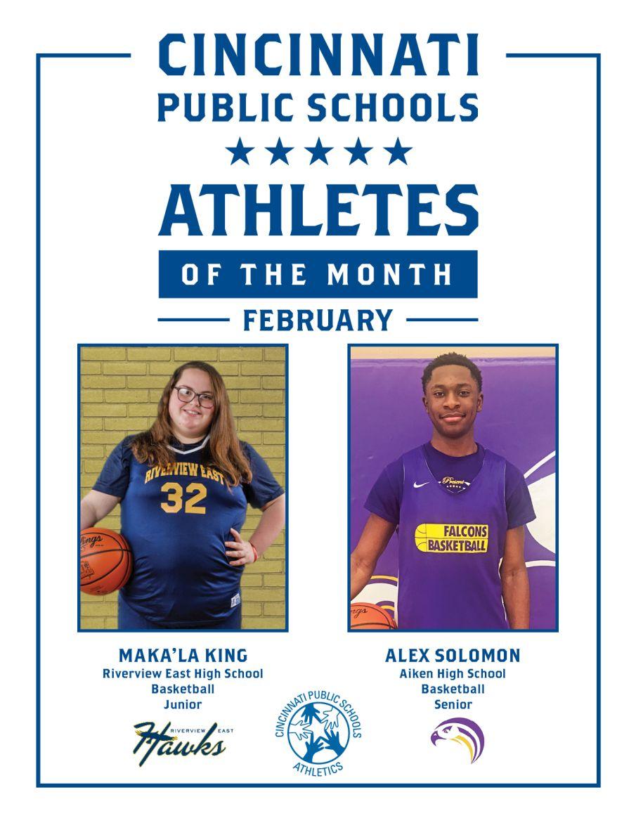 Cincinnati Public Schools Athletes of the Month for February