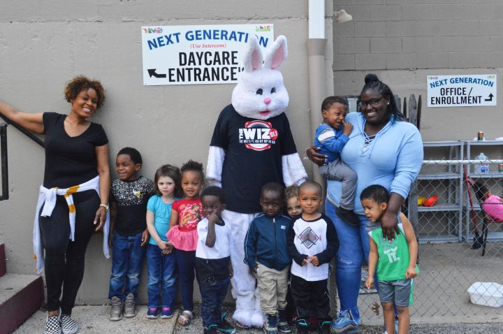 Tropikana and the Easter Bunny visit Next Generation Daycare