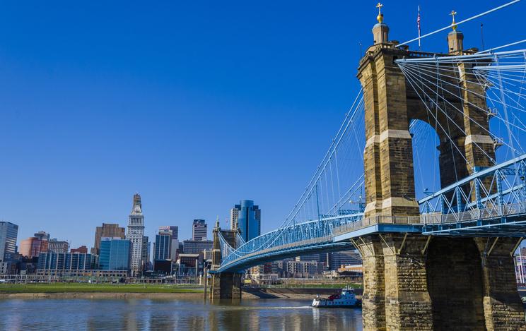 Cityscape of Cincinnati, Ohio, USA