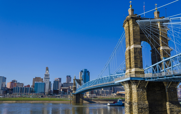 Cityscape of Cincinnati, Ohio, USA