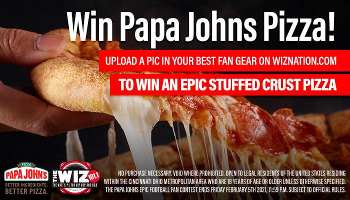 Local: Papa John's Giveaway_RD Cincinnati WIZF_January 2021