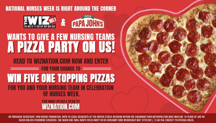 Nurses Week- Pizza Party On Us Contest