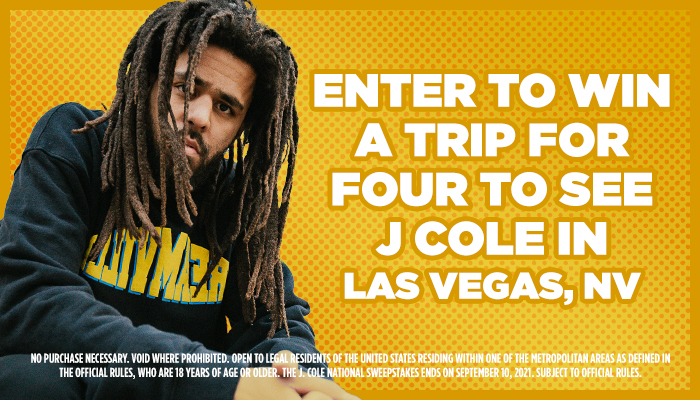 J Cole Flyaway Enter To Win Contest_August 2021