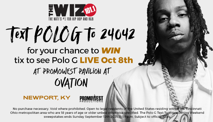 Polo G Text to Win Contest WIZF